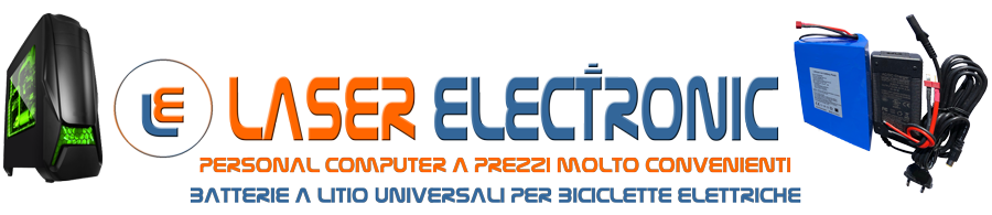 LaserElectronic computer e batterie a litio per bici